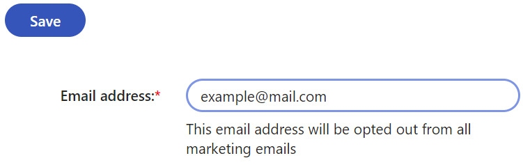 Opting out an email address
