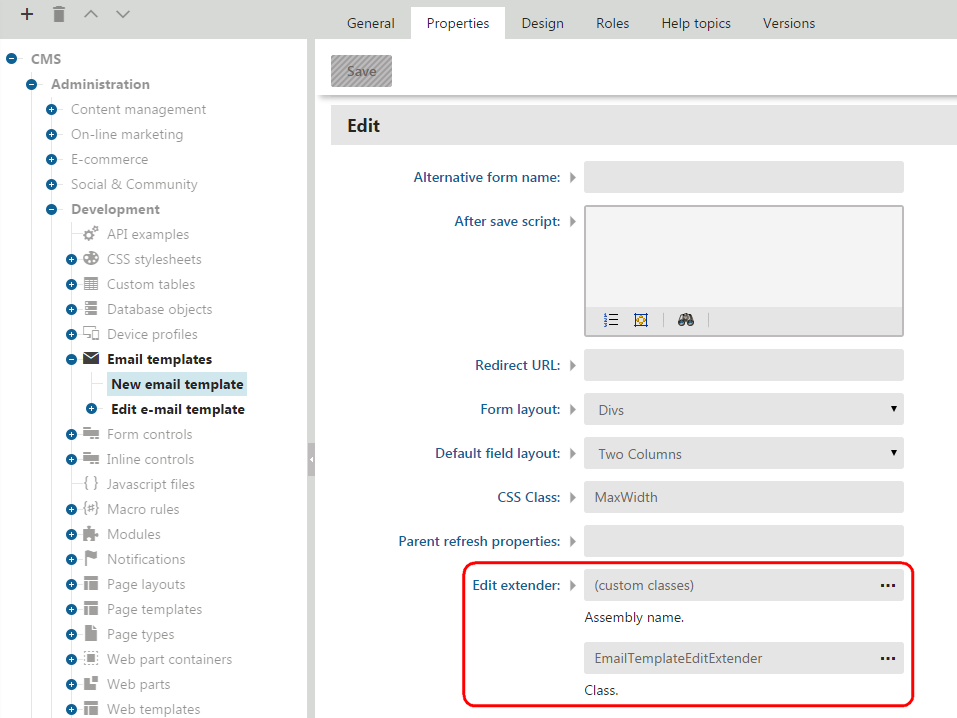 Creating Extenders For Module Interface Pages Kentico 10 Documentation
