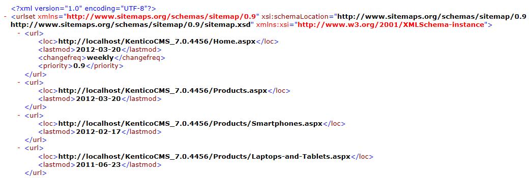 google sitemaps kentico 10 documentation