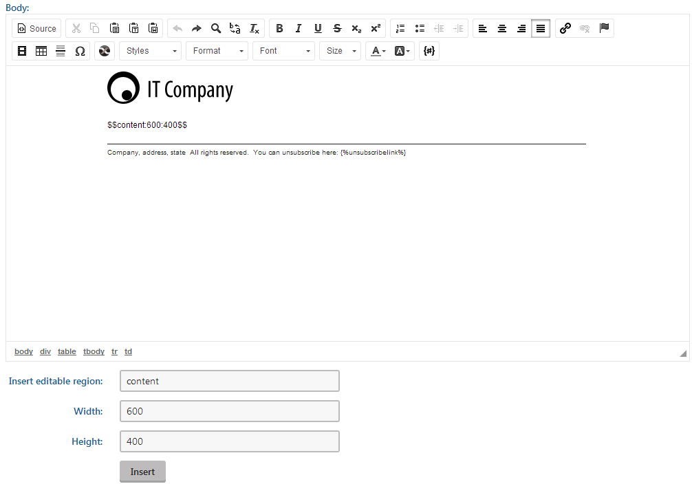 Preparing email templates kentico 10 documentation for Kentico email template