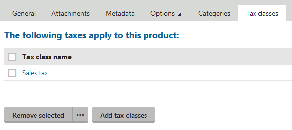 Applied tax classes
