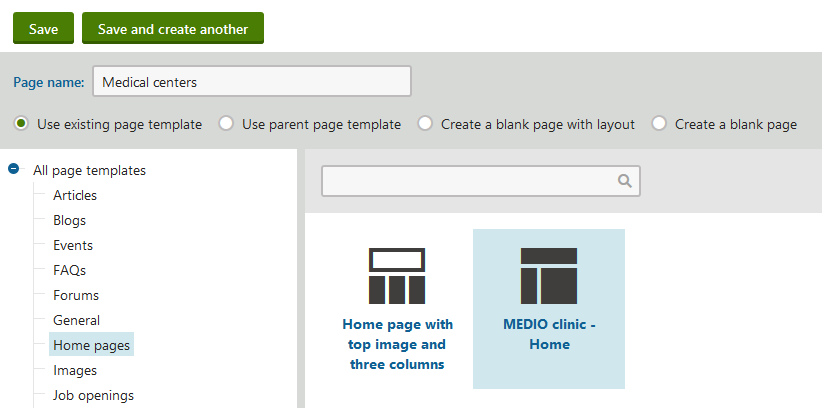 Creating page templates | Kentico 10 Tutorial