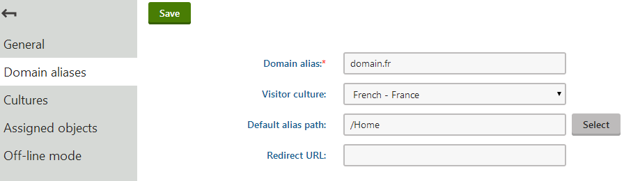 Creating a domain alias for a specific culture