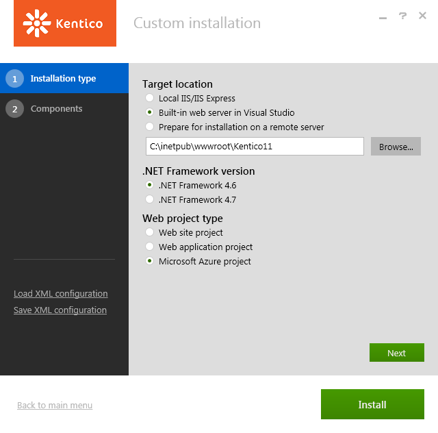 Installing a Kentico project for Microsoft Azure Cloud Services