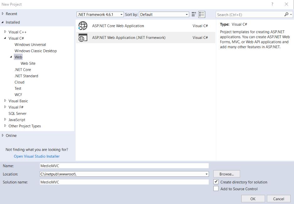 Creating a new MVC application | Kentico 11 Tutorial