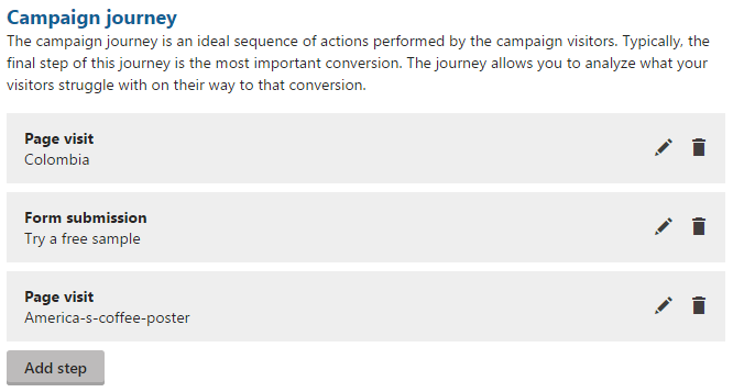 Setting the campaign journey