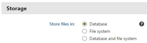 Configuring file storage settings