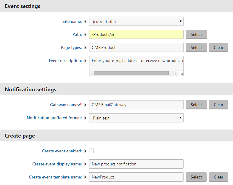 Setting the Content subscription web part properties