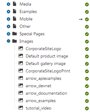 Images stored as files in the content tree