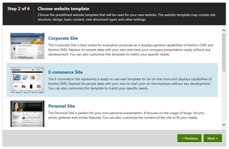 e commerce sites templates - installing your sample e commerce site kentico 8