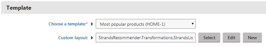 Choosing a strands recommender widget