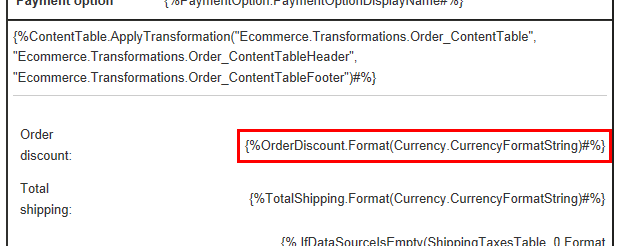 working with order discounts | kentico 8 documentation, Invoice examples