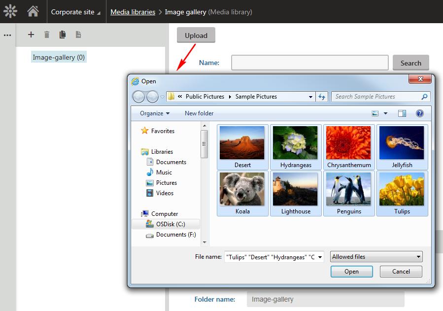 Uploading files | Kentico 11 Documentation