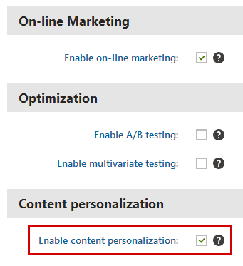 Enabling content personalization