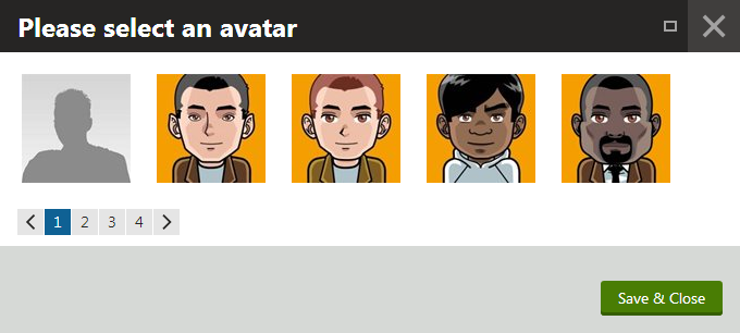 Selecting an avatar