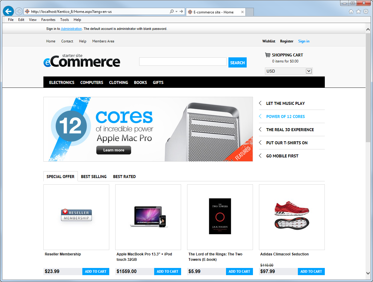 installing the e-commerce sample sites | kentico 9 documentation, Invoice examples