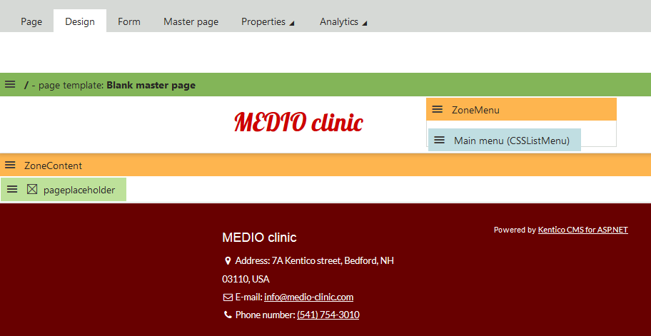 Creating the master page | Kentico 9 Tutorial